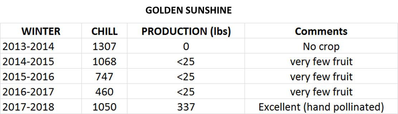 kiwi golden sunshine data